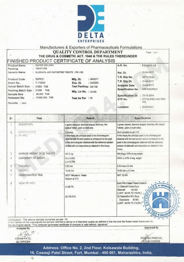 сертификат соответствия виагра + дапоксетин (super p-force)