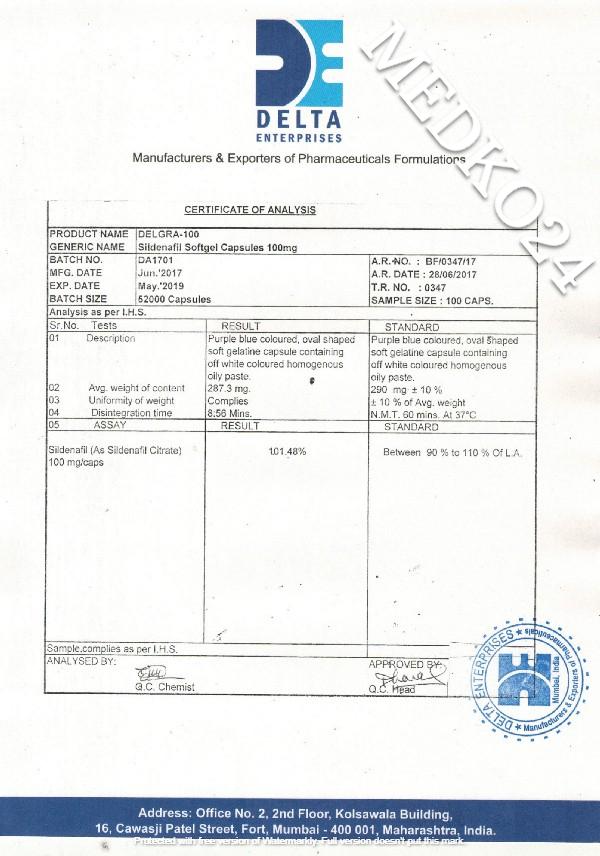 сертификат соответствия виагра в капсулах