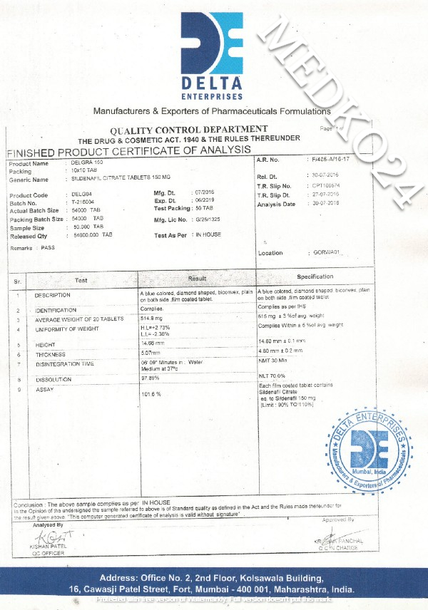 сертификат соответствия виагра 150